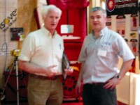 Donagh McClean with Duncan Stewart on Eco Eye, showing the blower door technology used for Air Tightness Testing by McClean Thermal Imaging